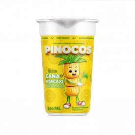 copo frente caldo de cana pinocos envasado 300ml abacaxi