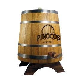 tonel de madeira de carvalho europeu aro inox 05 litros cachacaria pinoco s